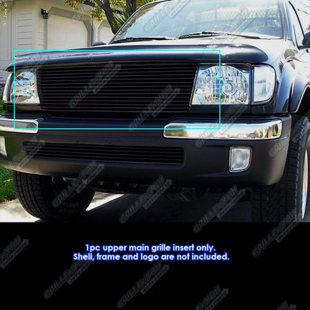 Fits 98-00 Toyota Tacoma Black Billet Grille Grill Insert