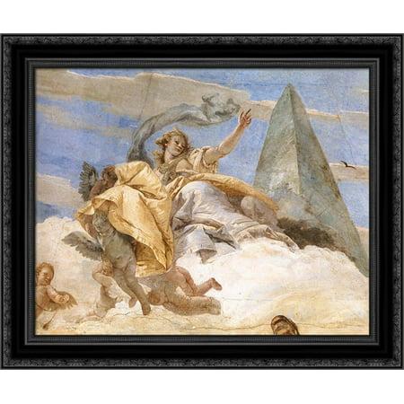 Bellerophon On Pegasus  Detail  2  23X20 Black Ornate Wood Framed Canvas Art By Tiepolo  Giovanni Battista