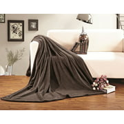 Elegant Comfort Fleece Plush Luxury BLANKET All Sizes Twin/Twin XL Chocolate Brown