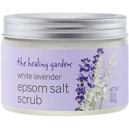 The Healing Garden White Lavender Epsom Salt Scrub, 16 oz