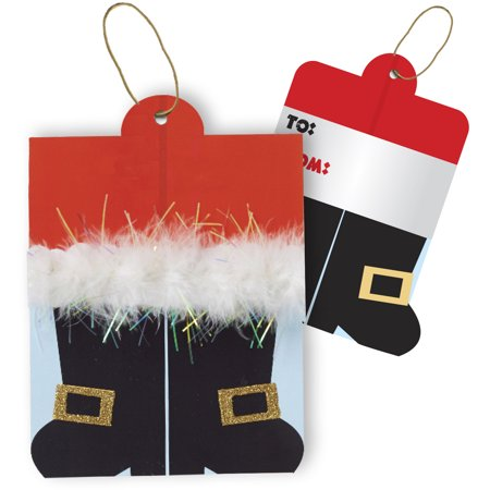 Jillson & Roberts Gift Tags with Tie String, Santa's Boots (100 Pcs) Jillson & Roberts Gift Tags with Tie String, Santa's Boots (100 Pcs)