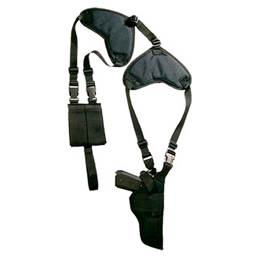 Bulldog Cases Deluxe Pro Shoulder Holster, Fits Medium/Large Auto Handgun, Ambidextrous, Black