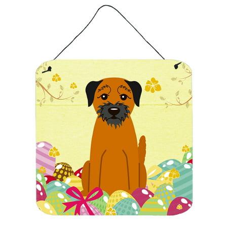 Easter Eggs Border Terrier Wall or Door Hanging Prints BB6039DS66