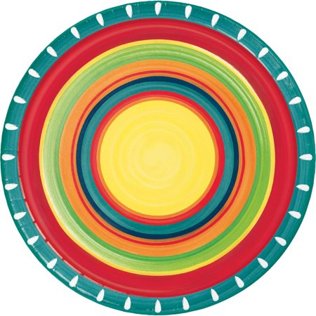 Red and Yellow Summer Stoneware Themed Decorative Dinner Plate 8.875