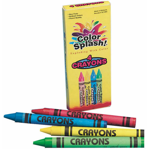 Color Splash! Crayons Box of 4, Pack of 36