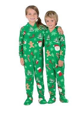 Footed Pajamas - Tis The Season Toddler Fleece Onesie