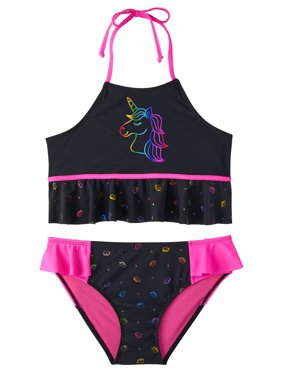 Foil Rainbow Unicorn Tankini Swimsuit (Little Girls & Big Girls)