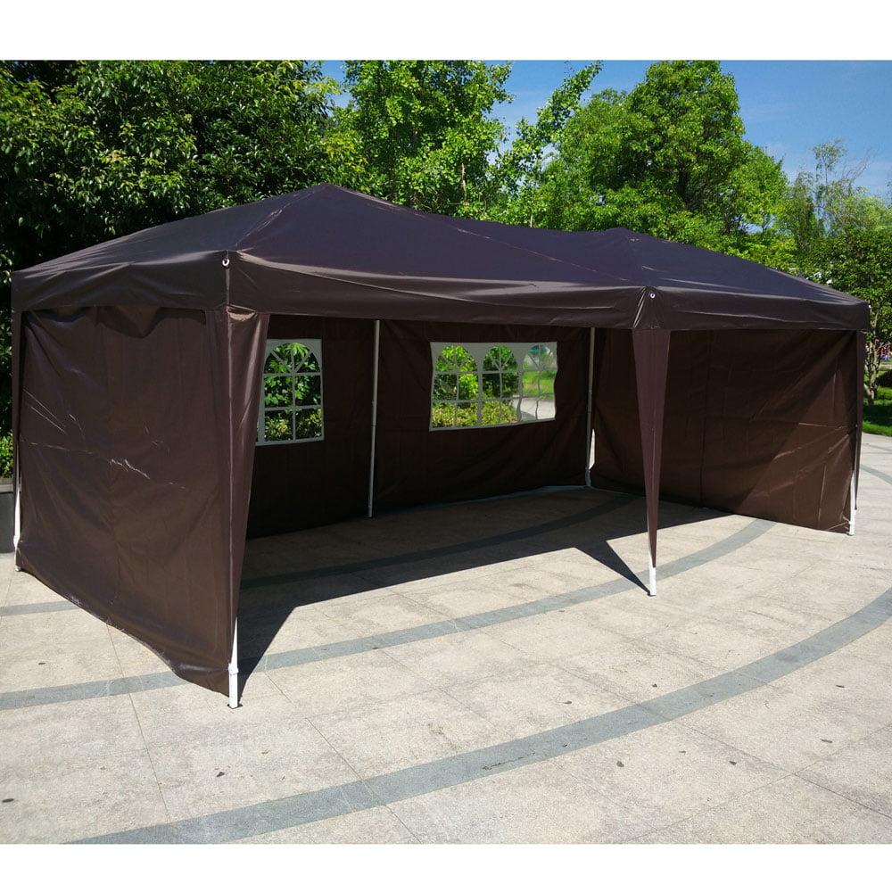 Ktaxon 10'X20' Easy POP UP Wedding Party Tent Foldable Gazebo Canopy Shelter W 4 Walls by