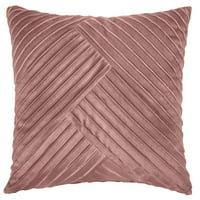 Better Homes & Gardens Textured Velvet Pillow, 20''x20'', Blush