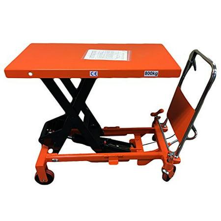 Scissor Lift Table - CasterHQ - MIGHTY LIFT LT1750 HYDRAULIC SCISSOR LIFT TABLE - HEAVY DUTY FOLDING - 1,750 LB LIFT TABLE