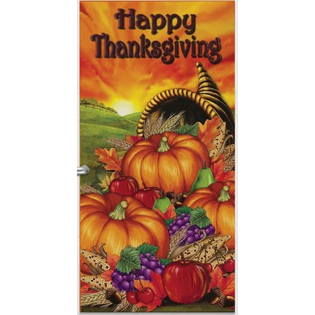 Thanksgiving Harvest Door Cover 1/Pkg Pkg/1 ()