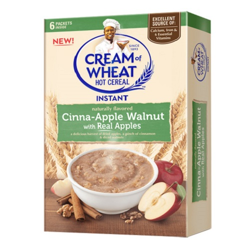 Cream of Wheat Hot Cereal Instant Cinna-Apple Walnut with Real Apples