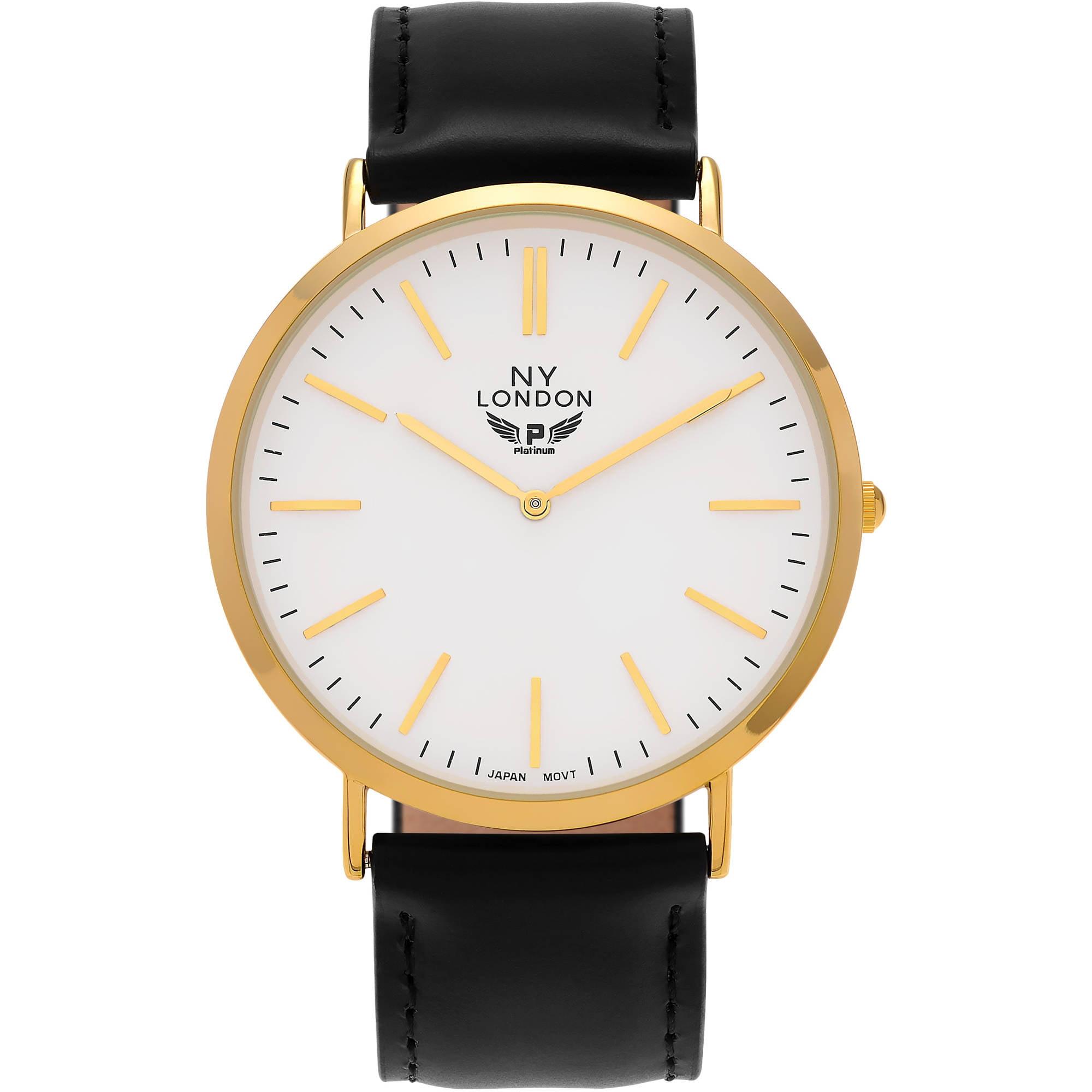 Image of Aktion Men's Faux Leather Round Face Tachymeter Strap Fashion Watch, Black/White