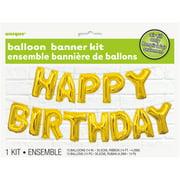 Foil Happy Birthday Letter Balloon Banner Kit 14 In Gold