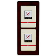 Walnut Wood 5x7 Multi Double Vertical Picture Frame