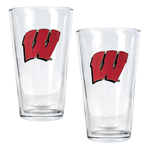 NCAA - Wisconsin Badgers 2pc. Pint Ale Glass Set