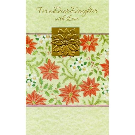 Freedom Greetings Gold Foil Flowers: Daughter Christmas (Bonus Foil Card)