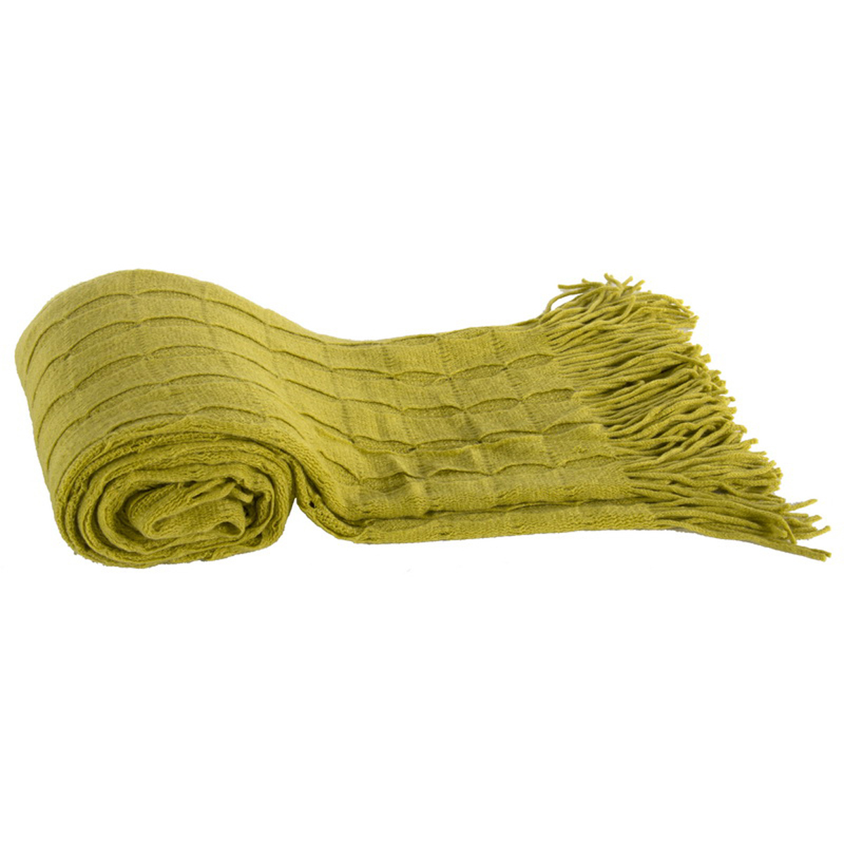 A&B Home Acrylic Cashmere Throw, Green, 50 by 60-Inch