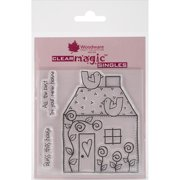 """Woodware Clear Stamps 3.5""""X3.5""""-Bless This House"""