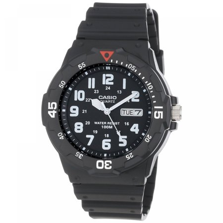 Men's 43mm Analog Dive-Style Watch, Black Resin