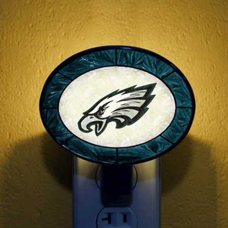 Philadelphia Eagles Hand-Painted Glass Nightlight - No Size