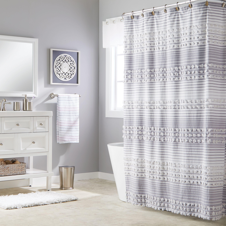 SKL Home Puffed Stripe Shower Curtain