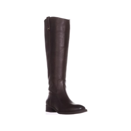 Womens I35 Fawne Wide Calf Riding Boots, Chocolate