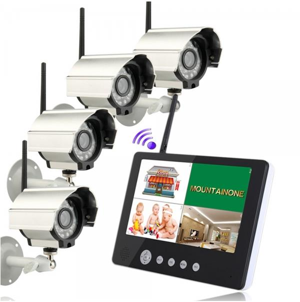 """SY901D14 9"""" TFT LCD Monitor 2.4GHz 4CH Wireless DVR Secur..."""