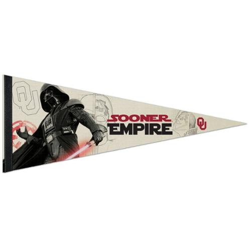 Oklahoma Sooners Official NCAA 29 inch  Star Wars Darth Vader Premium Pennant by WinCraft