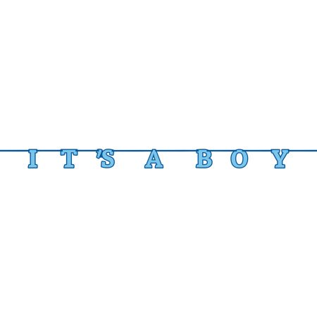 (3 Pack) It's A Boy Baby Shower Banner, 7 ft, Blue,