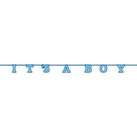 (3 Pack) It's A Boy Baby Shower Banner, 7 ft, Blue, 1ct