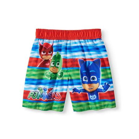 PJ Masks Swim Trunks (Toddler Boys) Boys Lined Swim Trunk