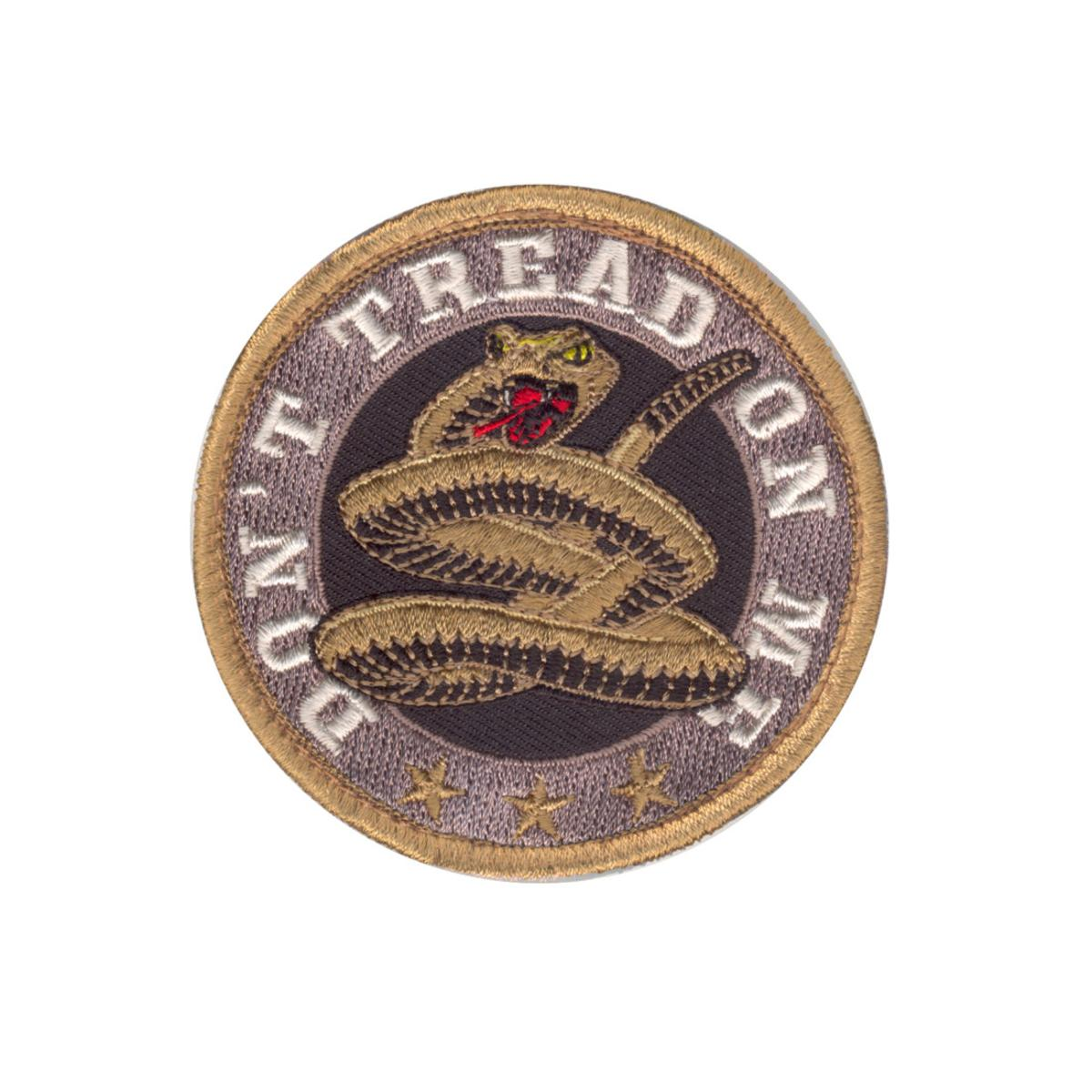 "Rothco Don't Tread On Me Morale Patch with Hook Back, 3"" Round"