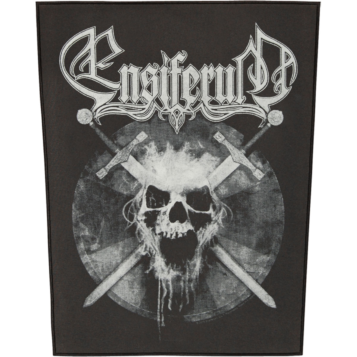 Ensiferum Men's Skull Back Patch Black