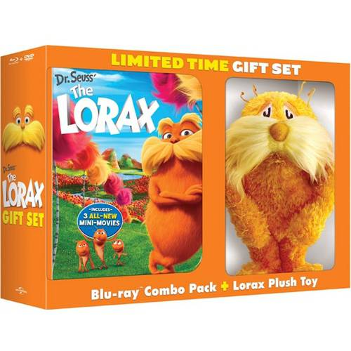 Dr. Seuss' The Lorax (Blu-ray + DVD + Digital Copy + Includes Plush Toy) (Walmart Exclusive)