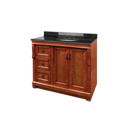 Foremost naples 36 39 39 bathroom vanity base with left for Base kitchen cabinets without drawers