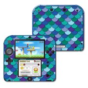 Skin Decal Wrap for Nintendo 2DS Blue Scales
