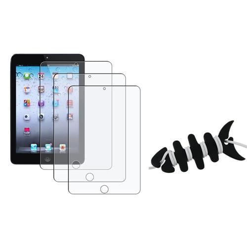 Insten 3X Anti-Glare Screen Protector LCD Film Guard Cover For Apple iPad Mini 1/2/3 + Fishbone Wrap