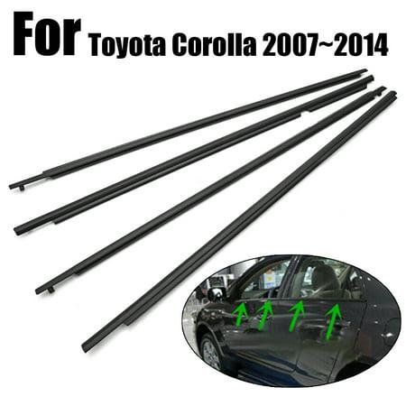 4pcs Window Moulding Trim Weatherstrip Weather Seal For Toyota Corolla 2007~2014 - image 3 de 6