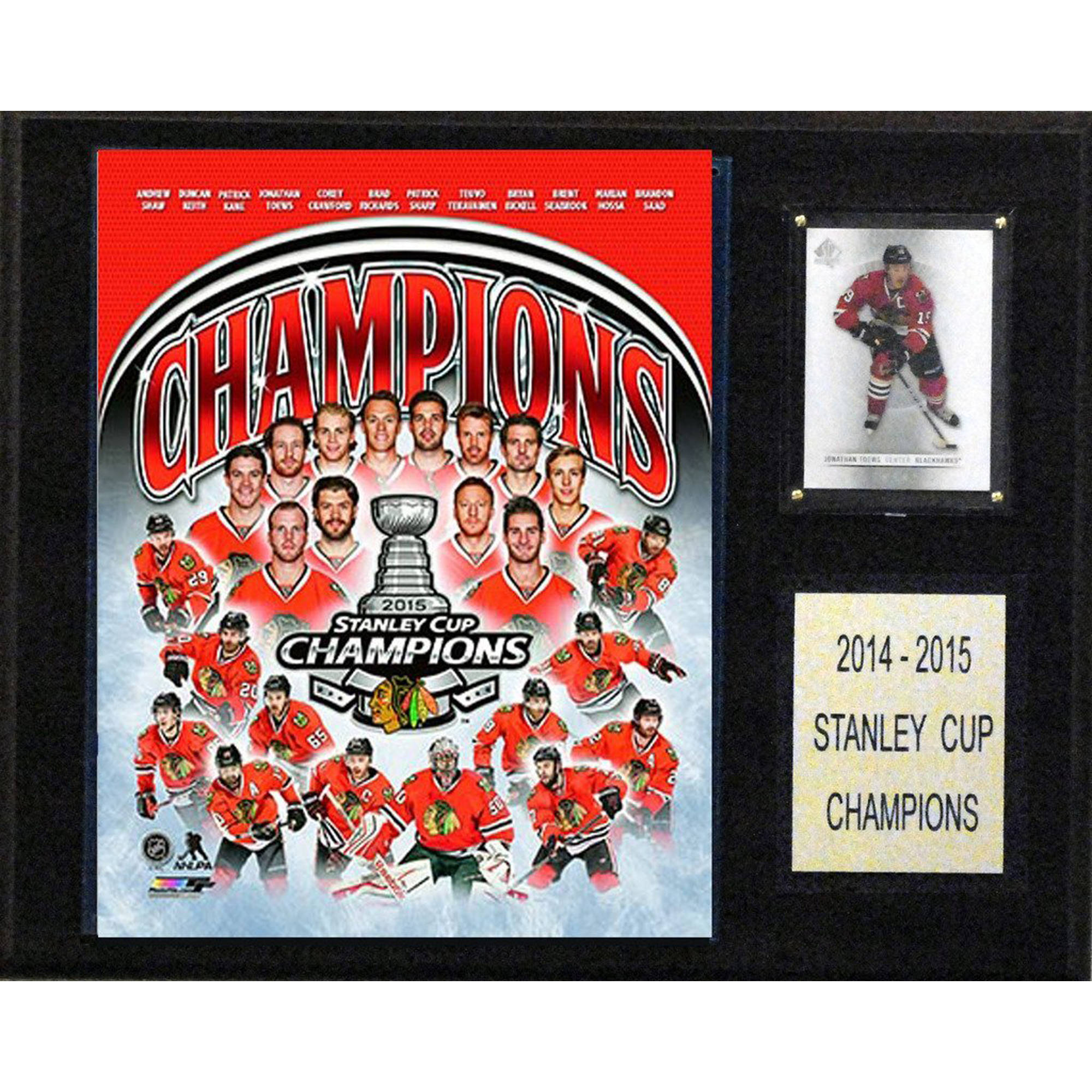 C&I Collectables NHL 12x15 Chicago Blackhawks 2014-2015 Stanley Cup Champions Plaque