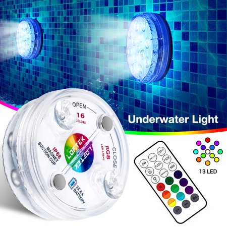 AIHOME Underwater Light IP68 Waterproof Wear-resistant LED Submersible Swimming Pool Lamp with RF Remote for Fish Tanks Fountains Aquariums - image 7 of 9