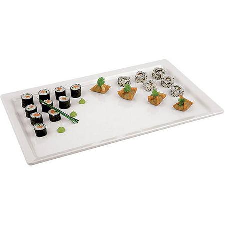 APS Melamine Rectangular Serving Platter, 1/3 GN, White, 44843-13 Black Melamine Fish Platter