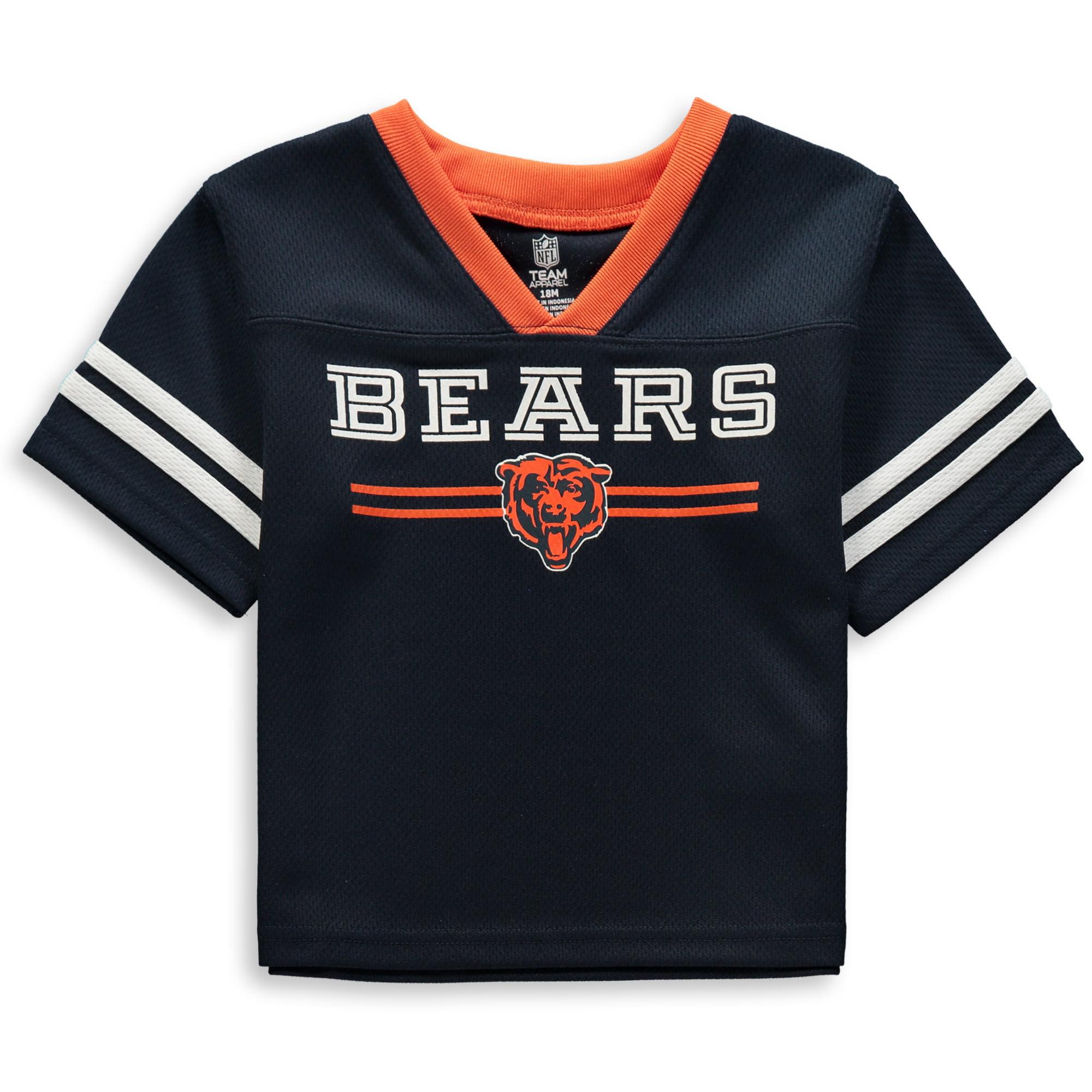 Newborn & Infant Navy Chicago Bears Mesh Jersey T-Shirt