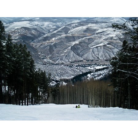 Canvas Print Outdoors Landscape Snowboard Snow Winter Mountains Stretched Canvas 10 x 14 ()