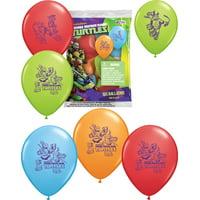 "Set of 6 Teenage Mutant Ninja Turtles Balloons 12"" Assorted Color Balloons"