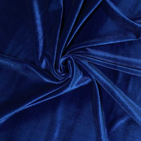 Stretch Velvet Fabric 60 Wide By The Yard For Sewing Arel Costumes Craft Royal Blue