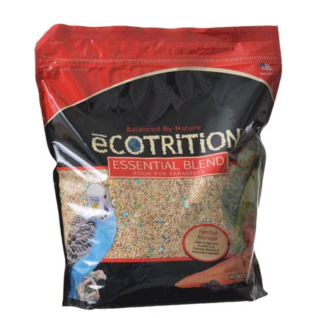 Ecotrition Essential Blend Diet for Parakeets 5 lbs - Pack of 2 (Ecotrition Essential Blend)