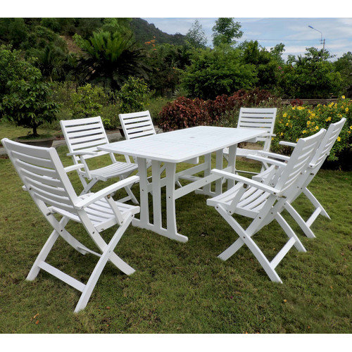 International Caravan Royal Fiji 7 Piece Patio Dining Set