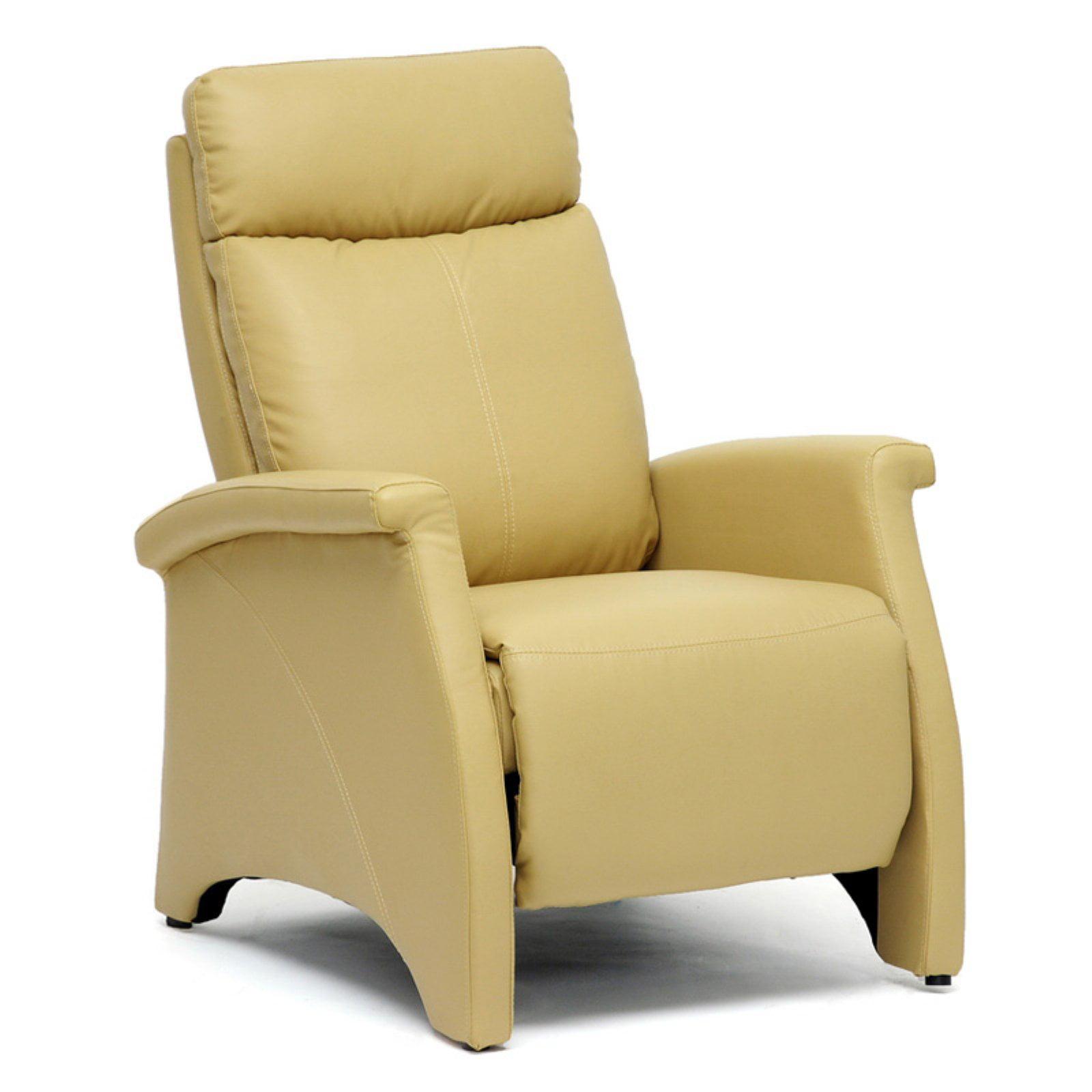Aberfeld Tan Modern Recliner Club Chair by Baxton Studio
