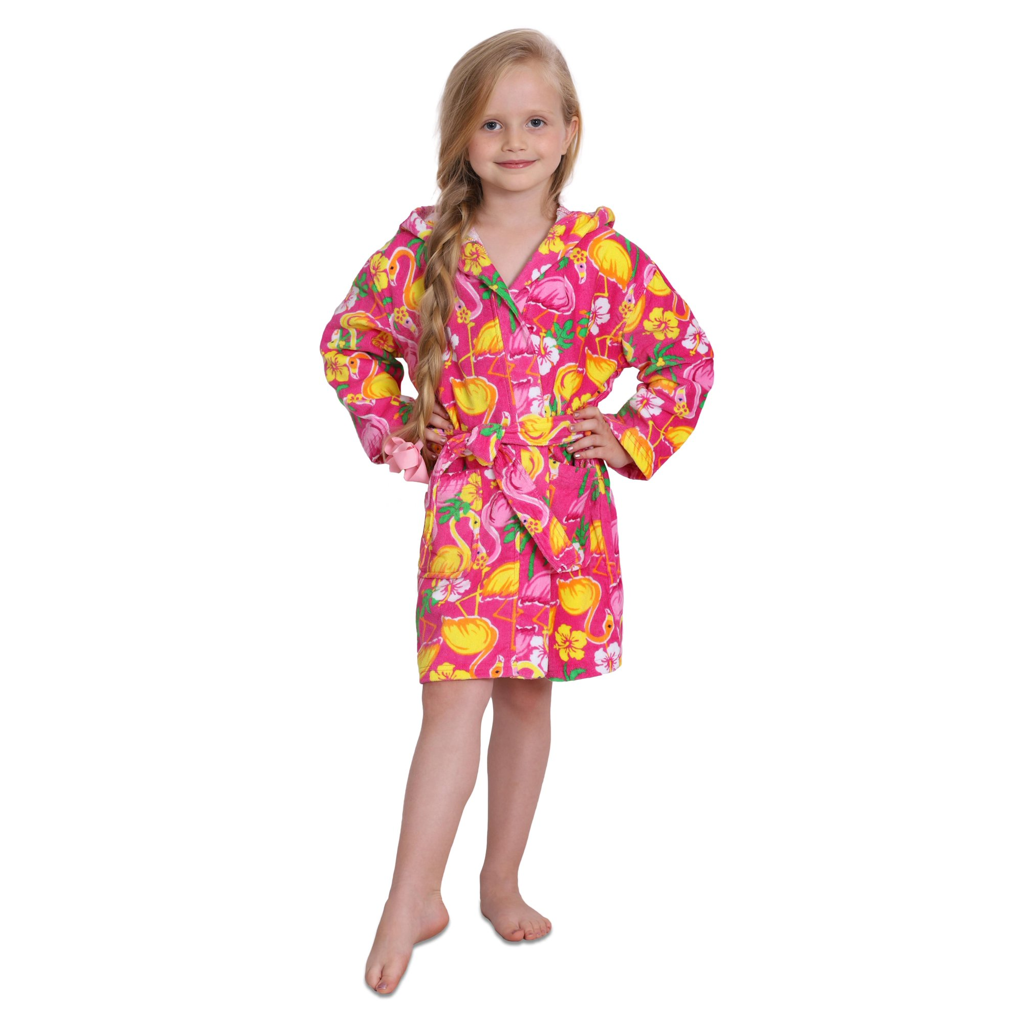 d6260bc68f7bf Komar Kids Girls Cotton Hooded Terry Robe Cover Up, Kids Sizes 3-12 |  Walmart Canada